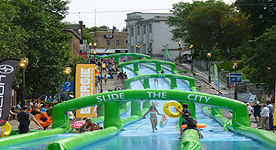Slide in the Cty - Saguenay